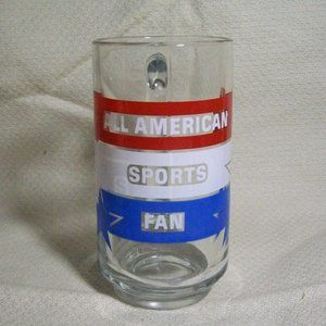 VTG (1983) Avon All American Sports Fan Glass Mug